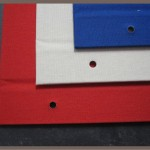 Leineneinband - Farben (rot, creme, blau)
