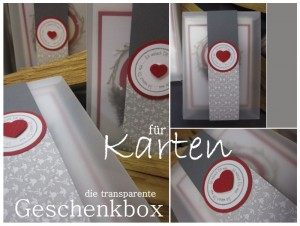 Transparente Box für Karten im Format A6 - B6 - Bestückung von 5 -10 Karen möglich, Mischung oder Themen bezogen.
