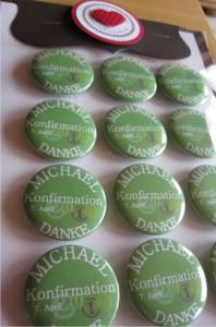 Geschenkbutton mit Magnet für die Konfirmation